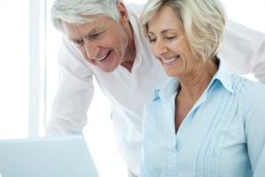 mature adults on hospital website