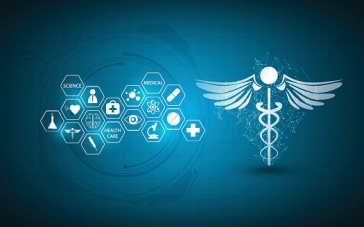 abstract medical health care innovation concept background